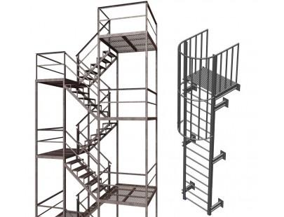 Пожарные и эвакуационные лестницы!